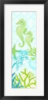 Framed Seahorse Reef Panel II