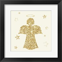 Framed Golden Angels I