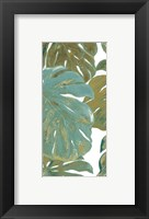 Teal Touch Panel II Framed Print