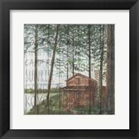 Into the Woods Words I Framed Print