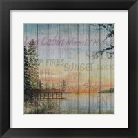 Into the Woods Words II Framed Print