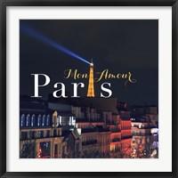 Framed Mon Amour Paris Square
