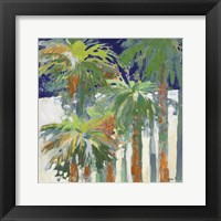 Wood Shadow Palms II Framed Print