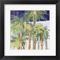 Wood Shadow Palms I Framed Print