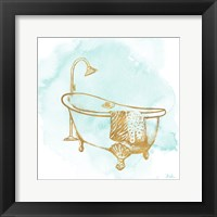 Framed Le Tub on Teal I