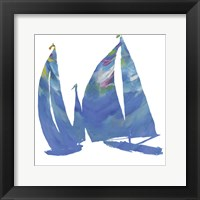 Set Sail on White I Framed Print