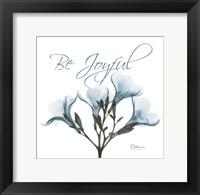 Framed Be Joyful Oleander