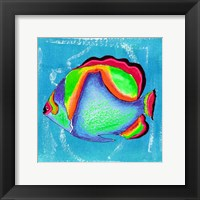 Framed Beach Front Butterfly Fish