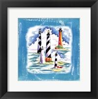 Framed Beach-Front-Lighthouses