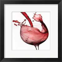 Framed Red Wine Pour 2