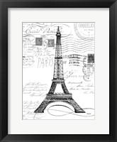 Framed Eco Vintage Paris 1