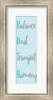 Framed Balance and Tranquil Harmony Panel