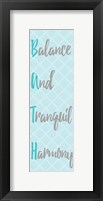 Framed Balance and Tranquil Harmony Panel