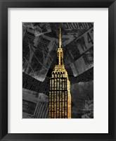 Framed Gold NY