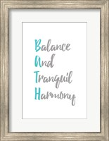 Framed Balance and Tranquil Harmony