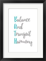 Framed Balance and Tranquil Harmony