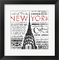 Framed New York Words