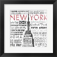 Framed New York Words Mate