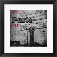Framed Paris Arc Victorian