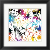 Framed Colorful Florals Mate