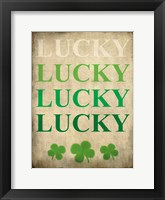 Framed LUCKY LUCKY