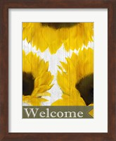 Framed Sunflowers Welcome