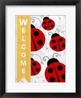 Framed Welcome Ladybug