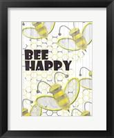 Framed Bee Happy