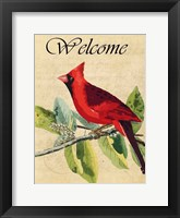 Framed Cardinal Welcome