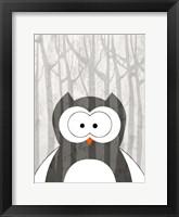 Framed Woodland Owl