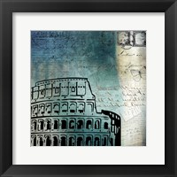 Framed Roman Blue