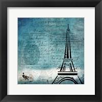 Framed Old Time Paris