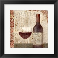Framed Vintage Wine 1