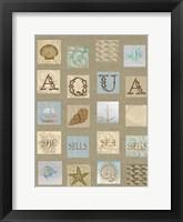 Framed Aqua Tiles