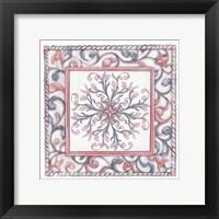Framed Florentine Rose Quartz & Serenity 1