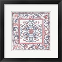 Framed Florentine Rose Quartz & Serenity 2