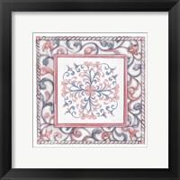 Framed Florentine Rose Quartz & Serenity 3