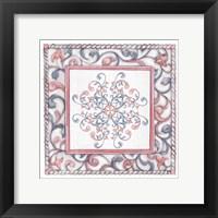 Framed Florentine Rose Quartz & Serenity 4