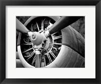 Framed Plane Engine 2 BW