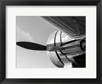 Framed Plane Engine 4 BW