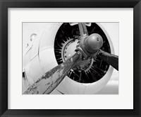 Framed Plane Engine 5 BW