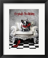 Framed French Princess Bulldog 82453