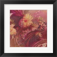Framed Marooned Florals 3