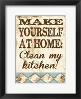 Framed Clean My Kitchen