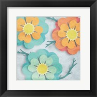 Framed Flowers In The Wind 2