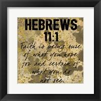 Framed Hebrew Faith