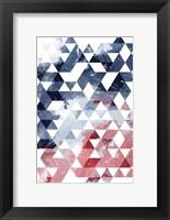 Framed Americana Triangles Third