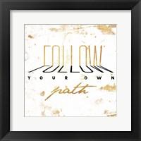 Framed Follow Gold