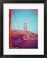 Framed Retro Golden Gate