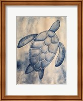 Framed Blue Sea Turtle